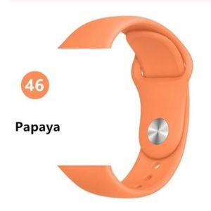 ❤️NEW Papaya Sport Silicone Band For Apple Watch